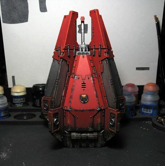 Pro painted Warhammer 40k Blood Angels Drop pod miniature