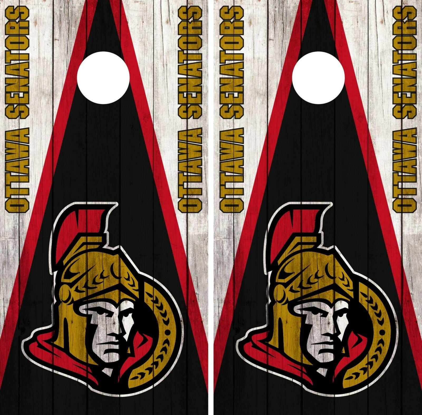 Ottawa Senators Cornhole Wrap NHL Vintage Game Board Skin Set Vinyl Decal CO308