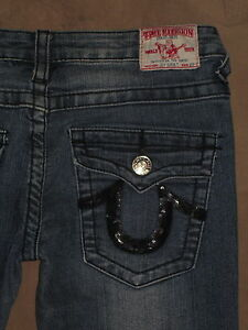 Lige 27 Lomme Mørkeblå Religion True Ben Jean T Kvinder Flap Størrelse Joey Super U6x48wq