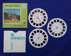 3 VIEW MASTER REELS + outer wallet Isle of Man Sawyers #005
