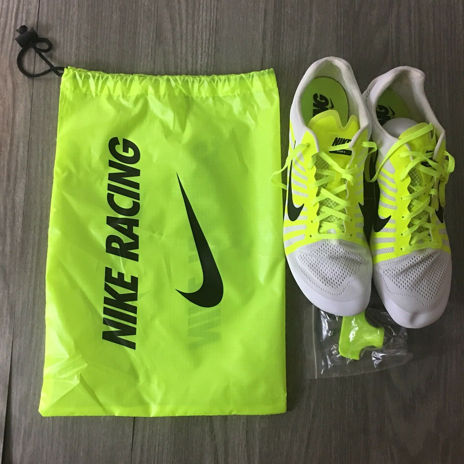 New Nike Mens zoom distance track and field cleats cleats cleats 819164-107 Men's size 14 2089fb