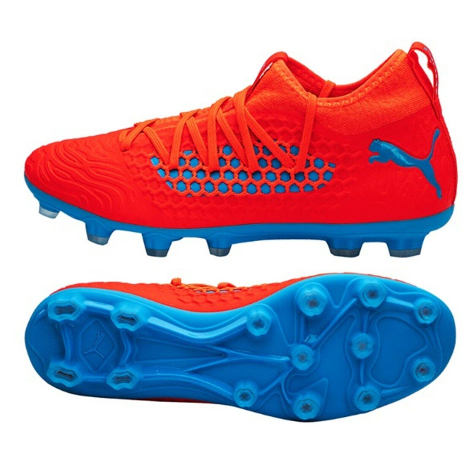 Puma para hombre futuro 19.3 Hg Net-Fit Tacos rojo Zapatos deportivos de fútbol inicio Spike 10554001