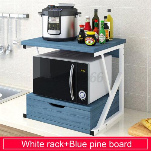 Home Kitchen Baker Rack Microwave Oven Stand Cabinet Storage Cart Shelf Drawer