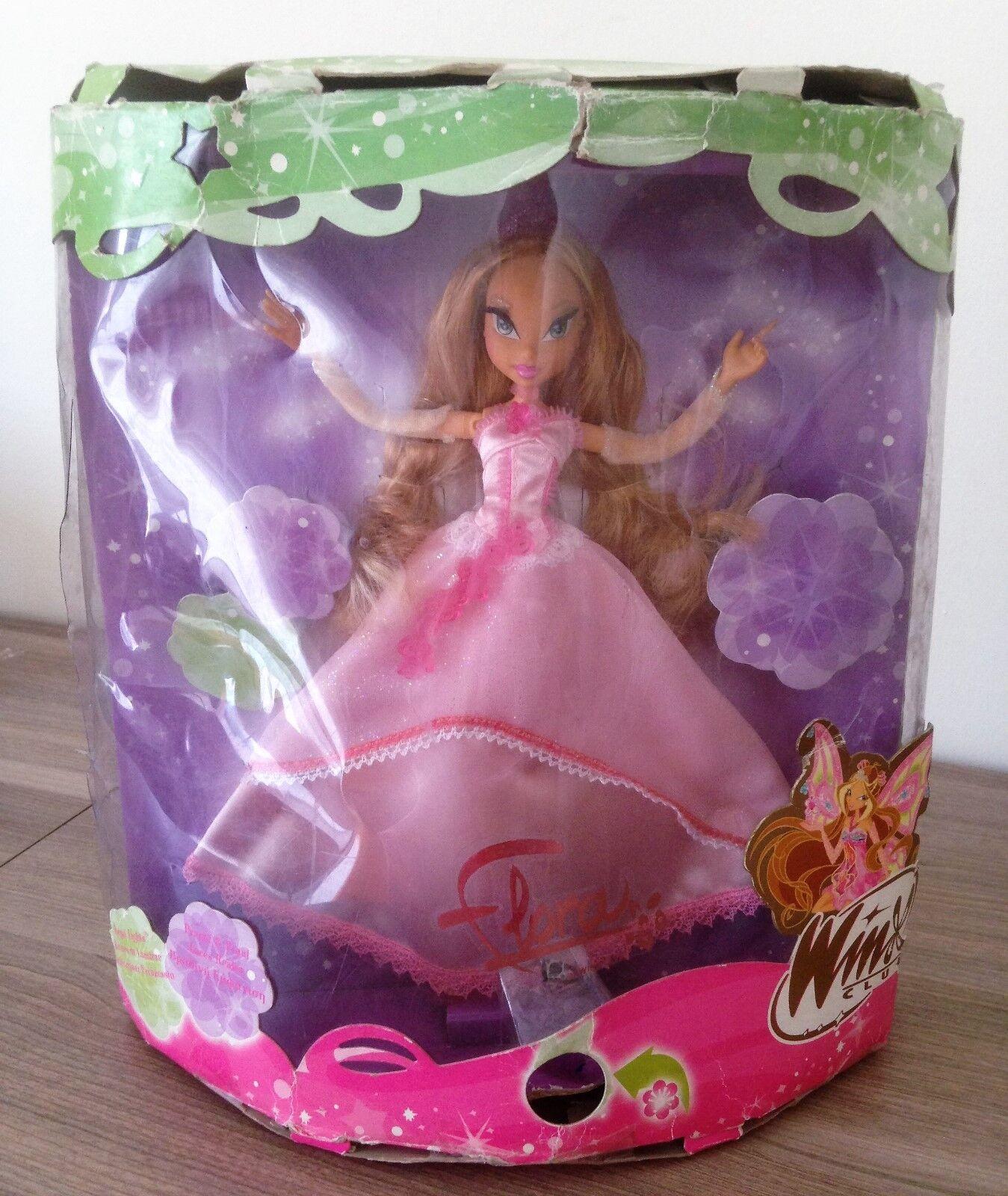 Winx Club Regal Lights Flora doll Mattel Rainbow Rainbow Rainbow 2008 RARE 4c85d5