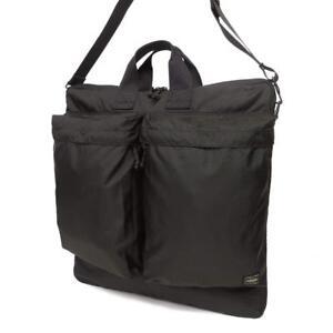 YOSHIDA PORTER FORCE 2WAY HELMET BAG 855-07414 Black From Japan  a359c9b4b5398