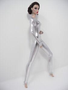 Silver-Lame-Stretch-Bodysuit-Handmade-by-KK-Fits-Fashion-Royalty-FR2-NuFace