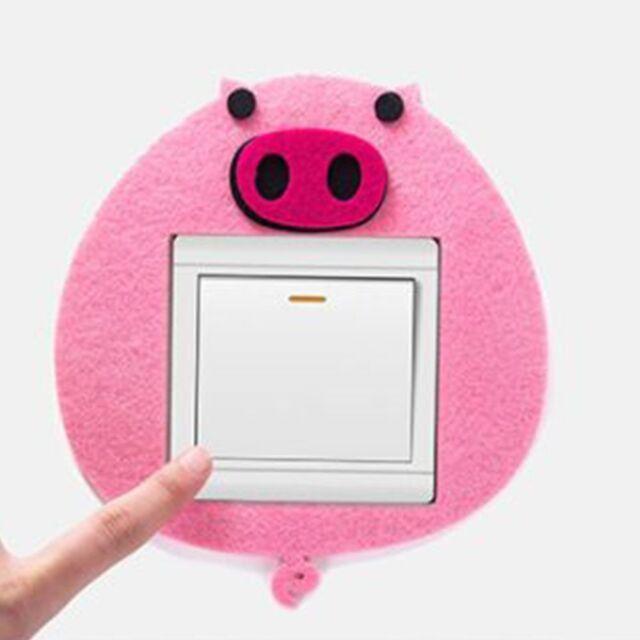 Felt Cute Bedroom Home Decor Animal Pattern Wall Sticker Switch Sticker