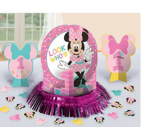 Baby Minnie Mouse 1st Birthday Hanging Swirl Decoration First Party 12pcs Disney For Sale Online Ebay