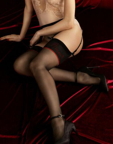 FIORE Amante Luxury 20 Denier Super Fine Sheer Decorative Patterned Stockings
