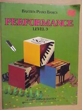 PIANOFORTE PIANOFORTE Bastien basicsc Performance Level 3