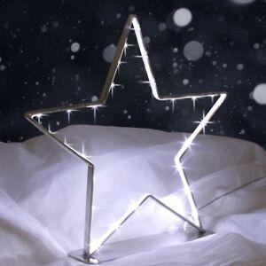 Weihnachtsdeko Fensterbeleuchtung.Led Adventsstern 28 Cm Metall Stern Weihnachtsdeko