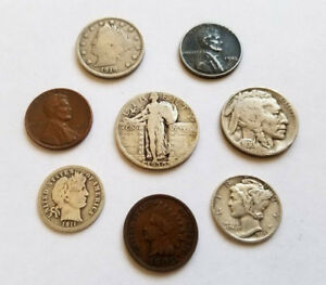 OLD US COINS INDIAN HEAD PENNIES* ESTATE LOT FIND *90/% SILVER MORGAN DOLLARS