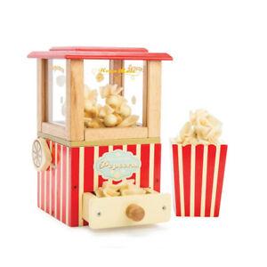 Le Toy Van TV318 Popcorn Maschine Holz NEU!   #