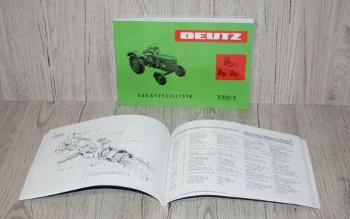 Piezas de recambio lista Deutz d25.2 d30 d30s para motor f2l812 z1125-2