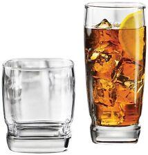Glassware Glass Set 16 Glasses Drinking Tumbler Clear Kitchen Tumblers Beverage