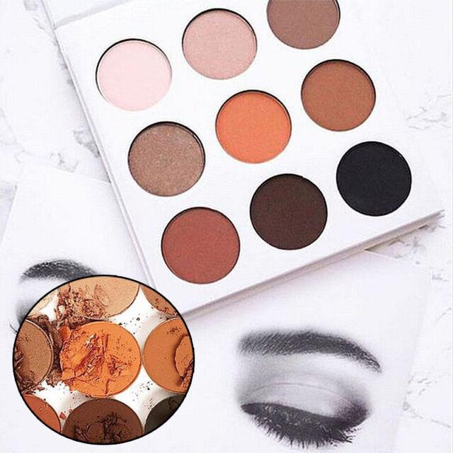 Long Lasting Makeup Matte Kit Eyeshadow Palette In Bronze Cosmetics 9 Colors Set