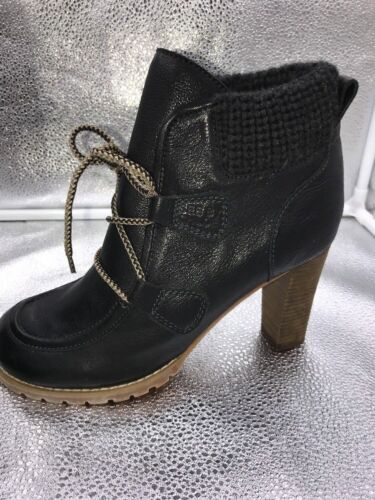 7 Sz By Ankle 40 Chloe High Leather Boots Black Up Lace Womens Heel See tqdUEq