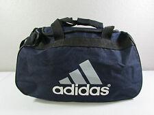ADIDAS Black White Blue Duffle Travel Sports Gym Carry On Shoulder Bag