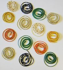 """9 COILED RAIN FOREST RUBBER SNAKES 36"""" TOY REPTILE FAKE JUNGLE SNAKE GAG GIFT"""