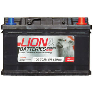 100-100-Car-Battery-3-Years-Warranty-70Ah-620cca-12V-L278-x-W175-x-H175mm-Lion