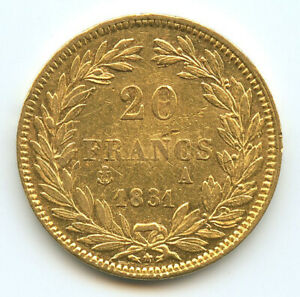 Louis-Philippe-Ier-1830-1848-20-Francs-or-1831-A-Paris