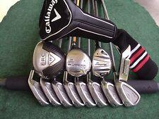 Callaway King Cobra Irons Driver Wood Hybrid Complete Golf Club Set Mens RH Set