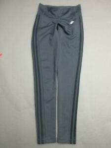 Adidas-Size-S-Womens-Gray-Athletic-Climalite-Yoga-Fitness-Training-Leggings-T794