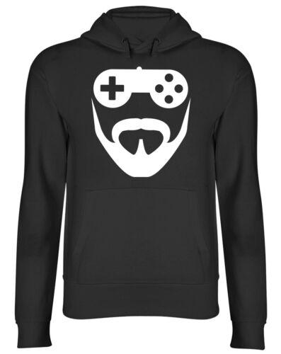Bearded Gamer Gaming Mens Hoodie