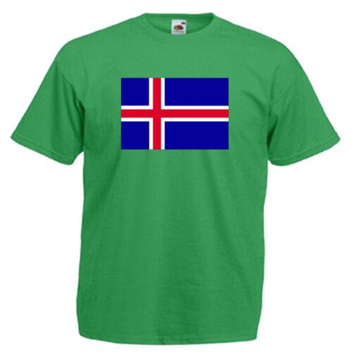 Iceland Flag Children/'s Kids Childs T Shirt