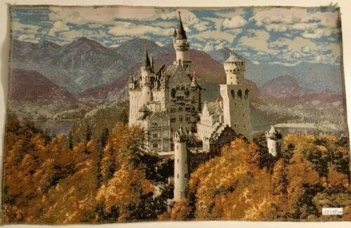 50x35 cm NEU Gobeline Panel Schloss Neuschwanstein Stoff ohne Rahmen ca