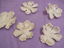 5 pezzi Champagne Fiore di stoffa petali accessorio capelli da sposa diy in