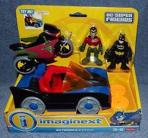 Imaginext 2014 Dc Super Friends Batmobile Amp Cycle Bonus