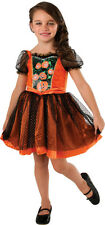 Light Up PUMPKIN PATCH Halloween Costume Dress Girl Child Large 12 14 Age 8 10