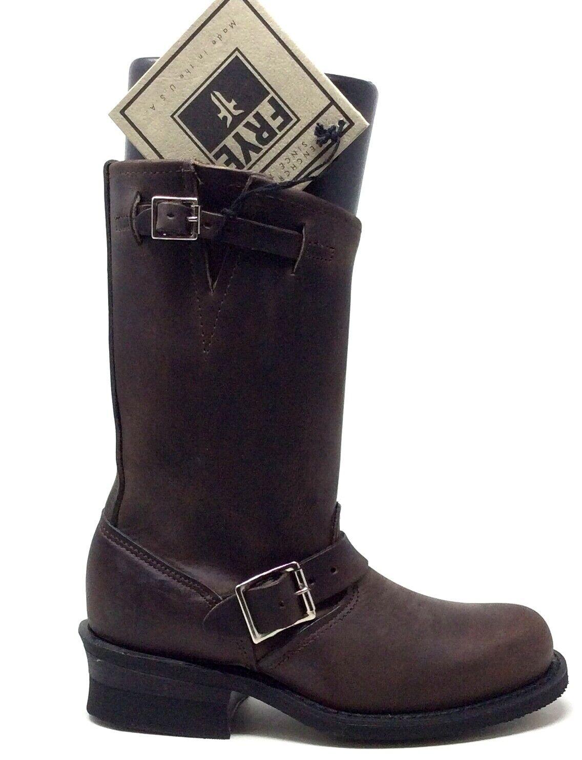 Frye Damen Ingenieur 12R Stiefel Gaucho Braunes Leder Größe 5.5 M US