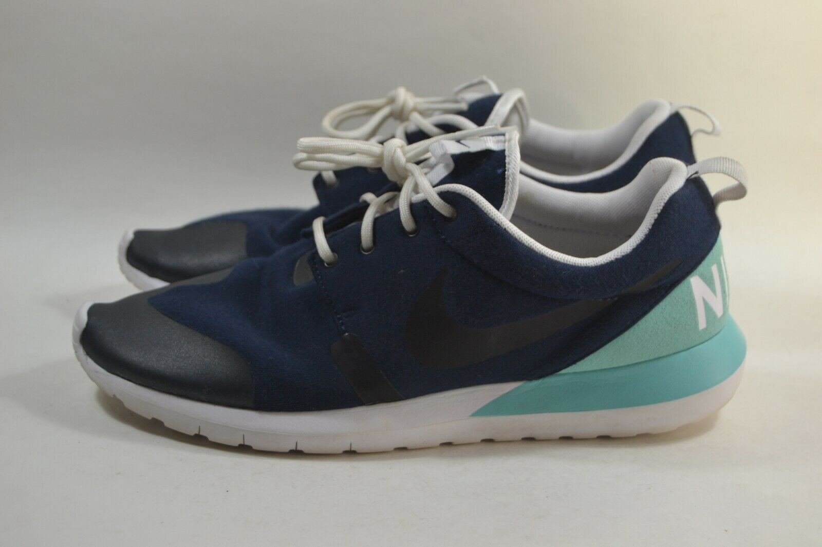 137ca4458bca Pre-owned Womens Nike Nike Nike Roshe Run Tech Fleece Obsidian 652804-403  64a68f