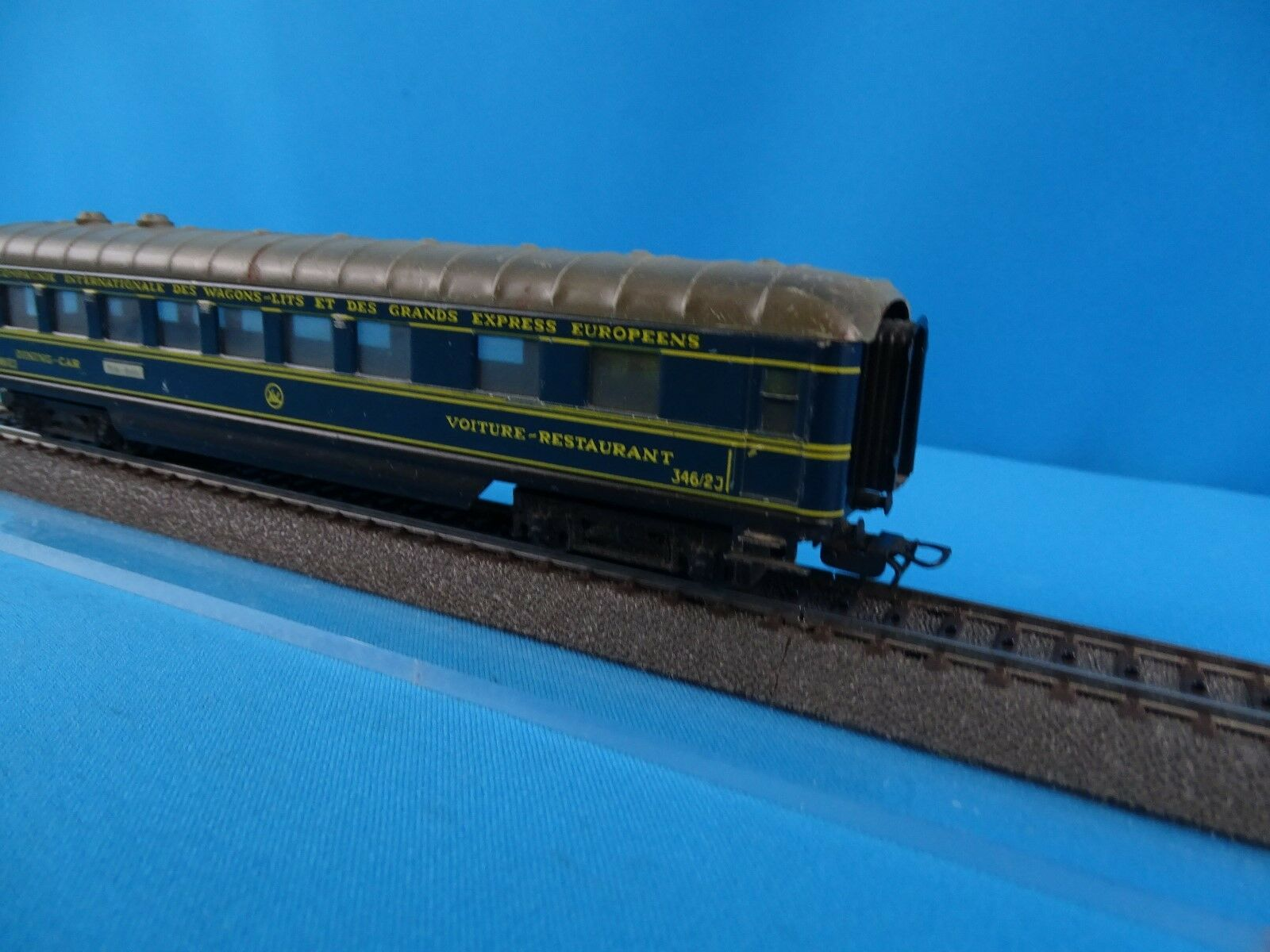 Marklin  346 346 346 2J  CIWL Speisewagen blu Schürzenwagen 44fc67