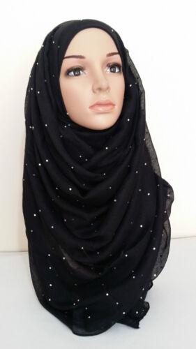 shawl niqab stole UK ^STonE wrap Ladies new large full diamante hijab scarf