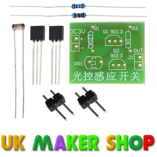 Light Controlled Switch Kit Beginners Electronics Kit Photoresistor