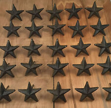 Cast Iron Nail Stars Set Of 24 Craft Western Decor Texas Lone Star 1 7