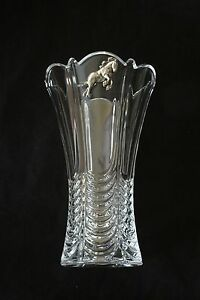 Shire Horse Vase Flower/Table Cut Crystal Glass Vase Vintage Farming Gift