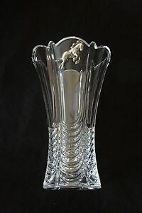 Shire Horse Vase Flower/Table Cut Crystal Glass Vase Vintage Farming Gift