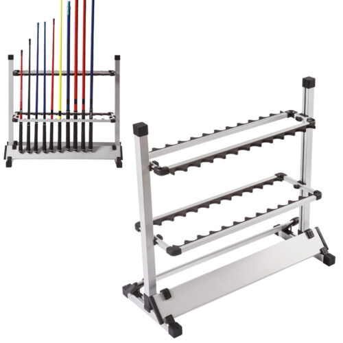 24 Capacità Rack di stoccaggio espositore porta canne da pesca//fishing Rod Frame