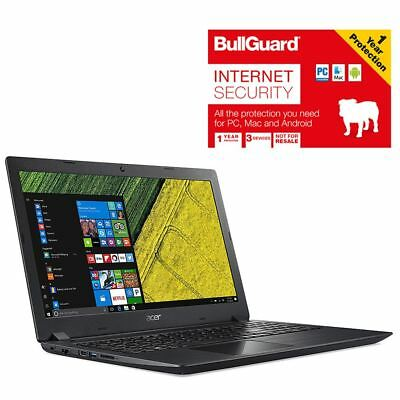 "Acer A315-31-C8R1 Laptop 15.6"" Celeron 4GB 1TB With BullGuard Internet Security"