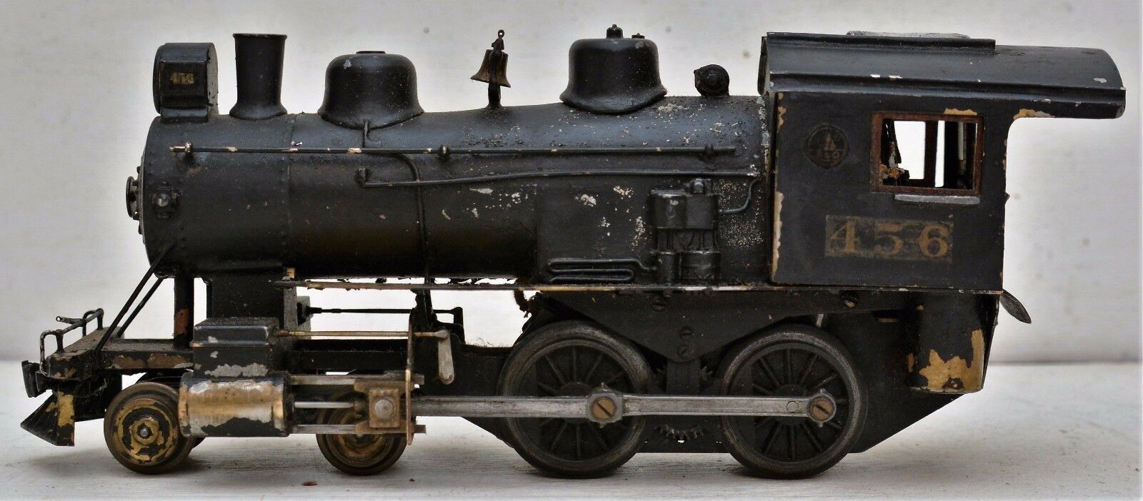 Vtg Kit Bash B&O Steam Locomotive 456 Prewar Post War O Scale 4-4-0 No Tender
