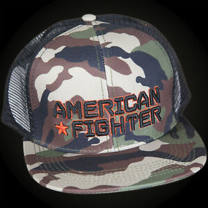 064dc339 Image is loading American-Fighter-by-Affliction-Knowledge-Hat -Black-Camouflage