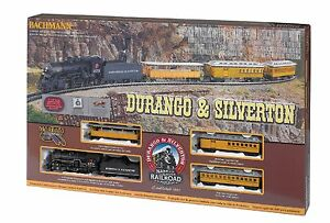 710 Coffret Train Depart Locomotive Vapeur Wagons Durango Ho 1/87 Dc