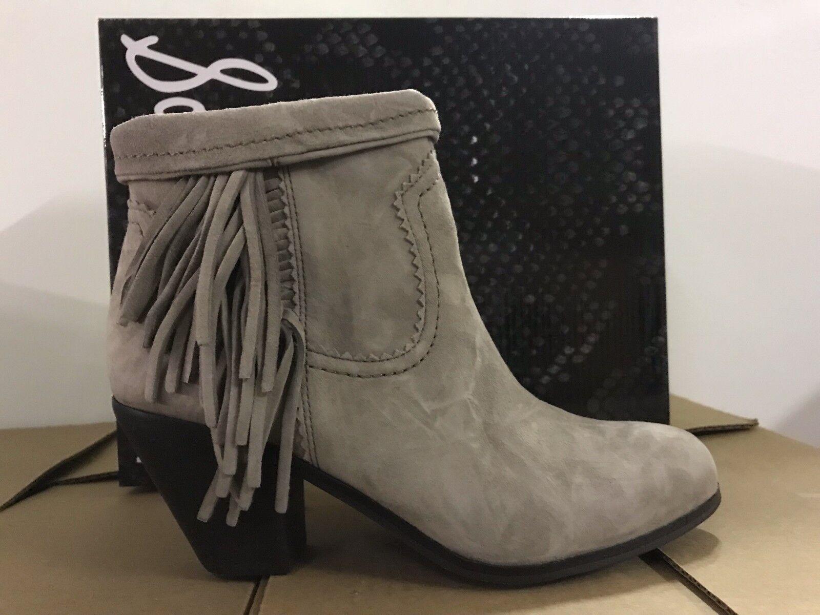 Sam Edelman Louie para mujer botas al Tobillo Bronceado occidental de Gamuza Botines de flecos Bronceado Tobillo 949e0a