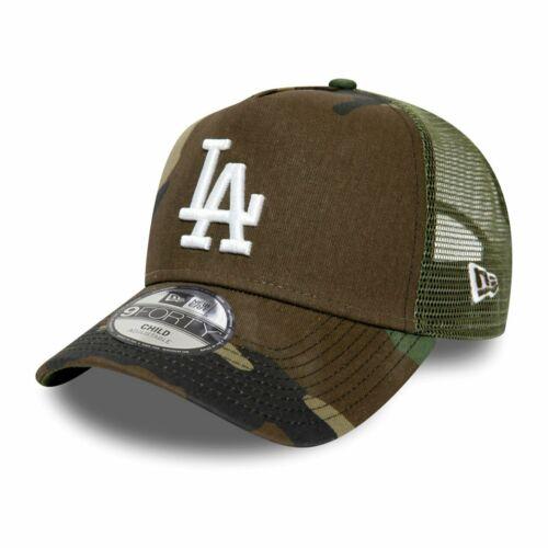 New Era 9Forty Kinder Trucker Cap LA Dodgers wood camo