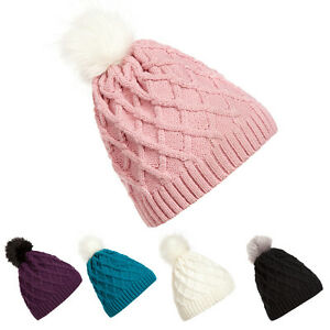 69ba9e165d6 Braided Crochet Wool Knit Beanie Beret Ski Ball Cap Baggy Womens ...
