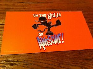 kids-teen-mini-paper-board-sign-I-039-m-The-Ninja-Of-Awesome-Warrior-Funny-Youth
